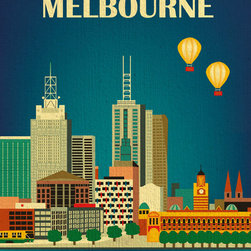 Melbourne, Australia Skyline - Looking for a gift? We package every order with a card upon request and will even handwrite your note.