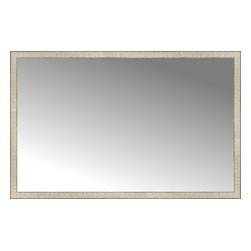 "Posters 2 Prints, LLC - 64"" x 41"" Libretto Antique Silver Custom Framed Mirror - 64"" x 41"" Custom Framed Mirror made by Posters 2 Prints. Standard glass with unrivaled selection of crafted mirror frames.  Protected with category II safety backing to keep glass fragments together should the mirror be accidentally broken.  Safe arrival guaranteed.  Made in the United States of America"