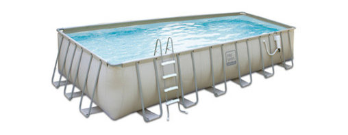Blue Wave - Blue Wave PRO Metal Frame Pool - 15 ft x 48 ft - Above ground swimming pool