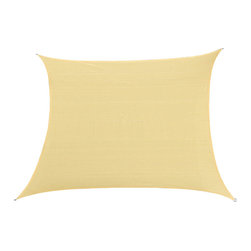 Cool Area - Cool area Square 11 Feet 5 Inches Sun Shade Sail, Sand - Cool Area shade sail is a stylish and effective shade solution that fit most outdoor living space. You can creatively design your own little shady area in a courtyard, pool, gardens, childrens' play areas, car spaces, and even entry ways. The heavy duty Polyethylene material will keep you cool and out of the hot sun.