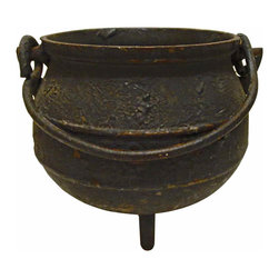 Little Iron Pot - Little iron black pot with swing handle and footed. Grab this before Halloween comes