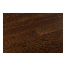 """Vanier - Vanier Engineered Hardwood - Oak Classic Collection - [19.6 sq ft/box] - Perseo / Oak / 5"""" -    The beauty and reliability of real oak flooring is presented in this range of artful, versatile, and cosmopolitan engineered wood flooring options set to transform all kinds of spaces. Whether you're looking to affect a design makeover in a residence or in a busy commercial space, each selection is designed for timeless and always tasteful wood flooring.  The colors you see here in this collection are at the cool end of the spectrum. Each one represents subtle surfaces designed to complement a wide range of interior design directions. Each board offers with wire-brushed matte finish surfaces that make each board a unique statement in each installation. And the innovative G5 locking system simplifies things too; low-mess, DIY-friendly, and made to hold for the long-term.  Versatile oak engineered flooring  Designed to thrive in all kinds of interiors, options in the Oak Classic series can be applied in below grade, on-grade, and above-grade contexts is Radiant Heat compatible. And because of their understated effects, each option provides the basis for all kinds of interiors, from high-concept rooms, to more laid-back designs.   The micro-beveled edges on the two long sides combined with the square edge ends help to create a stylish visual flow. From row to row the square edge ends create the visual of long length boards without the choppiness of each individual board. Each board represents a standard width that allows surrounding d_cor to shine, adding a layer of real oak to rustic design, contemporary spaces, and all points in between.  Engineered oak flooring at the best price  Our manufacturing partners exercise a strict process in the creation of the Oak Classic Series. The materials used in the creation of each board represents modern optimization of resources, making sure that waste is minimized, and quality is assured every time. ��_O"""