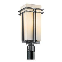 Kichler - Kichler 49207BK Modern Single Light Large Outdoor Post Light - Tremillo - Kichler 49207 Tremillo Outdoor Post Lantern