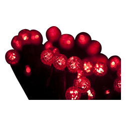 """Seasonal Source - 70 G12 Red LED String Lights, 4"""" Spacing - Our best value professional G12 LED strand is available with a standard plug end, one piece construction, and is energy star rated!"""