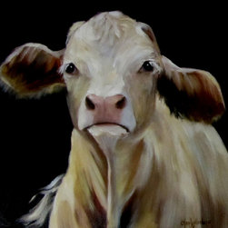 Oil Paintings by Cheri - Cow Print, Beethoven Giclee Canvas, - 24x24 Stretched Canvas Giclee Print