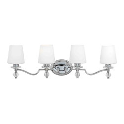 Quoizel Lighting - Quoizel HS8604C Hollister Polished Chrome 4 Light Vanity - 4, 100W A19 Medium