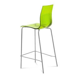 Domitalia - Gel-SGA Bar Stool, Transparent Green - Stool