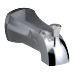 """American Standard - American Standard 8888.017.295 Copeland 4-7/8"""" Diverter Tub Spout Brushed Nickel - This American Standard 8888.017.295 Copeland 4-7/8"""" Slip-On Diverter Tub Spout is part of the Copeland collection, and comes in a beautiful Brushed Nickel finish. This slip-on diverter features a 4-7/8"""" spout reach and a 1/2"""" copper pipe connection."""