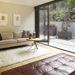 Konquist Residence - LaCantina Doors Aluminum Wood bi-folding door system