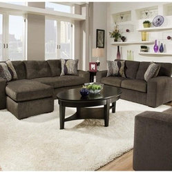 Chelsea Home Rockland Sofa Set - Hematite Gray