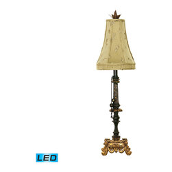 Dimond Lighting - Dimond Lighting Josephine Table Lamp in Black & Gold Leaf - LED Offering Up To 8 - Table Lamp in Black & Gold Leaf - LED Offering Up To 800 Lumens belongs to Josephine Collection by Dimond Lighting Lamp (1)