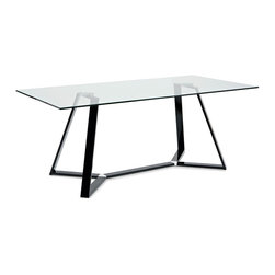 Domitalia - Archie-180 Dining Table, Black Lacquered - Rectangular Table