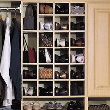Mediterranean Shoe Storage by Interior Door and Closet Company