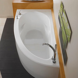 Deep Soaking Tub - This very popular and graceful Wind Bath comes in a mirror image, left or right orientation.
