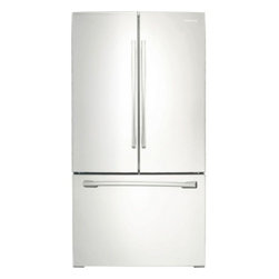 """Samsung - RF261BEAEWW 36"""" 26 cu. ft. Capacity French Door Refrigerator with Internal Filte - Easily organize your groceries with this Samsung French door refrigerator that features 5 spill-proof glass shelves that contain spills for easy cleaning and 6 gallon-size door bins for storing large containers including milk jugs"""