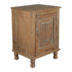 Rustic Farmhouse Reclaimed Wood Night Stand End Table Cabinet - Why settle for a little table when you can expand your storage options with our Rustic Farmhouse End Table Cabinet?