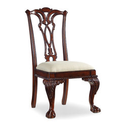 Hooker Furniture - Hooker Furniture Dark Ball-Claw Desk Chair 434-30-310 - Crafted from Hardwood solids