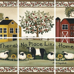 IdeaStix - No Place Like Home 6-Piece Mural IdeaStix Peel and Stick - IdeaStix Mural transforms an ordinary tiles and such into beautiful art decorations.  Made from proprietary rubber-resin, 6-Piece Mural Premium Peel and Stick Tile Decor is sized for 4.5 x 4.5 inch tiles and offers a quick and easy solution of having a great Tile Mural in kitchen or bath/shower.  With water/heat/steam-resistant, nontoxic, washable, removable and reusable features, it is ideal for kitchen backsplash and bath/shower tile cecoration and suitable for smooth and non-porous tile surfaces in hot, wet and humid areas.  Surface can be washed with most household cleaning products.