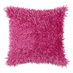 Rizzy Home - Pink and Pink Decorative Accent Pillows (Set of 2) - T3974A - Set of 2 Pillows. Pillow Cover with Hidden Zipper. Maretial: Polyester Shag Fabric. Tufted Fibers. Matches Kempton Rug KM-1507. Spot Clean due to the weight of the Pillow. Contemporary. Color: Pink - Pink.