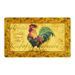 BuyMATS Inc. - Kitchen Cushion Country Rooster Mat - • Kitchen comfort anti-fatigue mat.