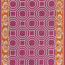 Surya - Surya Nantes NAN-8007 (Magenta, Burnt Orange) 8' x 11' Rug - This Hand Woven rug would make a great addition to any room in the house. The plush feel and durability of this rug will make it a must for your home. Free Shipping - Quick Delivery - Satisfaction Guaranteed