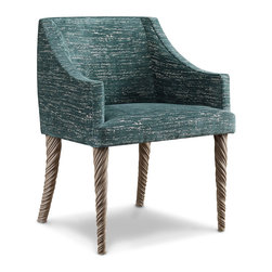 Narwahl Chair - The Laura Kirar Collection - The Narwhal Chair takes design cues from nautical furniture and the mythical unicorn and the very real narwhal that meanders in our oceans. This chair flows seamlessly from desk to dining room.