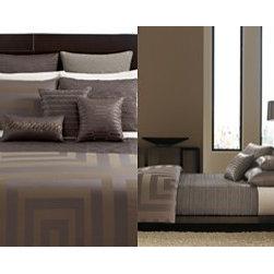 Hotel Collection - 582979 - Hotel Collection Bedding, Columns Full/ Queen Duvet Cover - HTL COLUMNS FQ DUVET