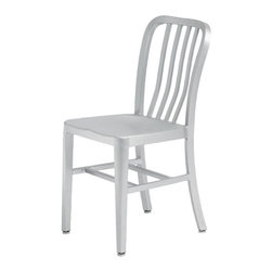 Nuevo - Soho Aluminum Dining Chair - Box aluminum frame construction. Welded joints and brushed finish. No assembly required. Seat Depth: 18 in.. Seat Height: 15.5 in.. 15.25 in. W x 20 in. D x 33 in. H (7 lbs.)