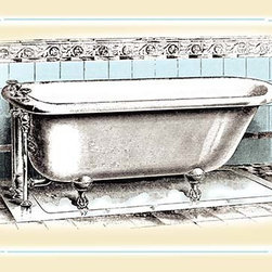 "Buyenlarge.com, Inc. - A Bathtub- Fine Art Giclee Print 24"" x 36"" - Another high quality vintage art reproduction by Buyenlarge. One of many rare and wonderful images brought forward in time. I hope they bring you pleasure each and every time you look at them."