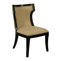Noir - Noir - Lago Chair, Hand Rubbed Black - Hand Rubbed Black Mahogany Wood, with Cotton