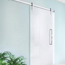 Horizon Trail New Home / Contemporary barn doors