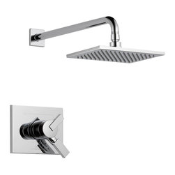 Delta - Vero Monitor 17 Series Shower Trim - Delta T17253 Vero Monitor 17 Series Shower Trim with Volume Control and Single Function Showerhead in Chrome.
