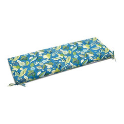 Blazing Needle Designs - Cushion for Patio Bench (Skyworks Caribbean) - Fabric: Skyworks Caribbean. Standard patio size cushion. All weather resistant and UV light fading protection. Dacron insert. Washable once the Dacron insert is taken out of the cushion. 54 in. W x 19 in. D