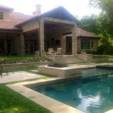 Traditional Pool by KJ Custom Screens & Designs