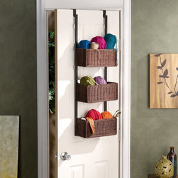 Southern Enterprises - Over the Door 3 Tier Basket Storage - HZ6233 - Shop for Baskets from Hayneedle.com! About SEI (Southern Enterprises Inc.)This item is manufactured by Southern Enterprises or SEI. Southern Enterprises is a wholesale furniture accessory import company based in Dallas Texas. Founded in 1976 SEI offers innovative designs exceptional customer service and fast shipping from its main Dallas location. It provides quality products ranging from dinettes to home office and more. SEI is constantly evolving processes to ensure that you receive top-quality furniture with easy-to-follow instruction sheets. SEI stands behind its products and service with utmost confidence.