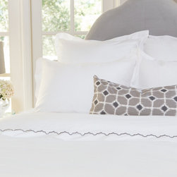 Crane & Canopy - White Linden Sham - Standard - The luxury is in the details, especially when inspired by the classic bedding found in the finest luxury hotels around the world. Woven from luxurious 400-thread count, single ply, 100% cotton with tailored 2 inch white borders, this irresistibly soft and beautiful duvet lends elegance to any room.