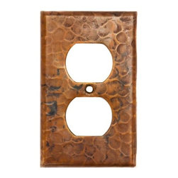 Premier Copper Products - Copper Switchplate Single Duplex, 2 Hole Outl - Dimensions: 2.75 in. x 4.5 in.