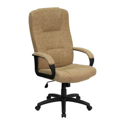 Flash Furniture - Flash Furniture Office Chairs Fabric Executive Swivels X-GG-EGB-2209-TB - This reasonably priced office chair will get the job done while performing work related tasks or browsing the internet. The high back design makes it appealing and comfortable while sitting throughout the day. [BT-9022-BGE-GG]