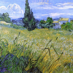 "Vincent Van Gogh Green Wheat Field with Cypress  Print - 16"" x 20"" Vincent Van Gogh Green Wheat Field with Cypress premium archival print reproduced to meet museum quality standards. Our museum quality archival prints are produced using high-precision print technology for a more accurate reproduction printed on high quality, heavyweight matte presentation paper with fade-resistant, archival inks. Our progressive business model allows us to offer works of art to you at the best wholesale pricing, significantly less than art gallery prices, affordable to all. This line of artwork is produced with extra white border space (if you choose to have it framed, for your framer to work with to frame properly or utilize a larger mat and/or frame).  We present a comprehensive collection of exceptional art reproductions byVincent Van Gogh."