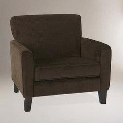 Coffee Corduroy Monroe Chair -