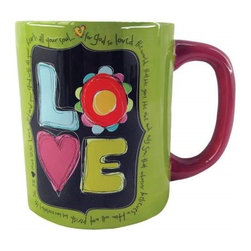 "Westland - 4.25 Inch ""Love"" Ceramic Coffee Mug with Quotes, 15 oz. - Green - This gorgeous 4.25 Inch ""Love"" Ceramic Coffee Mug with Quotes, 15 oz. - Green has the finest details and highest quality you will find anywhere! 4.25 Inch ""Love"" Ceramic Coffee Mug with Quotes, 15 oz. - Green is truly remarkable."