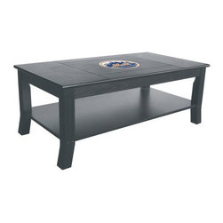 "Imperial International MLB Coffee Table - The versatile Imperial International NFL Coffee Table suits up for baseball season just like the ultimate fan who owns it! This handsome table crafted from select hardwoods comes in a sleek black finish that blends with any decor but it also features reversible panels that you may flip up on game day to support your favorite team! Officially licensed by MLB. Measures 44W x 24D x 17H inches.About Imperial USAImperial USA is a division of H. Betti Industries, Inc, which was founded in 1934. At that time, the company was an """"operator"""" for vending equipment; over the next several years, it ventured into stocking billiards-type products. By 1952, the billiards portion of H. Betti was large enough to stand on its own; by 1968, it was renamed and Imperial was born. Today, Imperial USA has expanded well beyond the world of billiards, and manufactures top-quality furniture for every part of your home game room or bar. With over 10,000 items, many of them licensed by the biggest names in sports, Imperial makes what every fan needs. It has offices in California and New Jersey, and staffs more than 100 employees; this allows the company regional accessibility to service its customers both in the US and abroad. Imperial's goal is to give you high-quality products at a reasonable cost. Your satisfaction is the top priority."