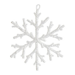Silk Plants Direct - Silk Plants Direct Glitter Snowflake Ornament (Pack of 24) - White - Pack of 24. Silk Plants Direct specializes in manufacturing, design and supply of the most life-like, premium quality artificial plants, trees, flowers, arrangements, topiaries and containers for home, office and commercial use. Our Glitter Snowflake Ornament includes the following: