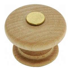 """Belwith Hickory Hardware - 1-1/4"""" Diameter Natural Woodcraft Knob - Unfinished Wood - 1-1/4"""" Diameter Natural Woodcraft Knob - Unfinished Wood"""