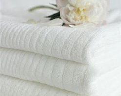 Soho White Towels - You can't go wrong with thick, luxurious towels, and ribbing adds a nicely textural note.