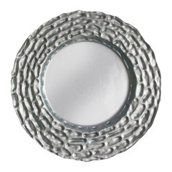 Jay Import Co. - Roma Charger Plate, Silver - Frame your food in the gilding it deserves with this charming charger plate. Handmade of Turkish glass, this plate will wow your guests and add texture to your dining experience.