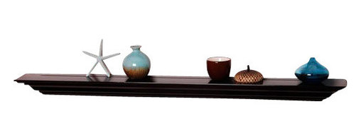 Welland - Corona Crown Molding Wall Shelf, 24-Inch, Espresso - Display your finest wares on an extra-thick floating shelf that captures the style and elegance of crown molding. Perfect for holding wineglasses in a formal dining room, housing books in the library or home office or displaying fine china in the dining room. Classy, not stuffy. What a breath of fresh air!