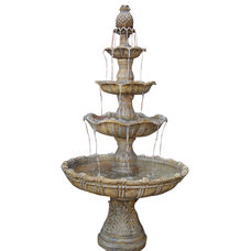 Contemporary Outdoor Fountains by Serenity Health & Home Decor