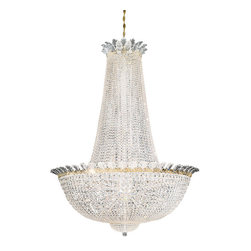 Schonbek Lighting - Schonbek Lighting 3724-20S Roman Empire Polished Gold 58 Light Chandelier - 58 Bulbs, Bulb Type: 60 Watt Incandescent; Product made-to-order, 6-8 week lead time