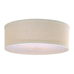 Design Classics Lighting - Drum Lamp Shade in Cream Linen - SH7485DIF - Add luxurious simplicity to your living room by purchasing Design Classics Lighting's Drum Shade in cream linen. This fabric lampshade is what�s known as a drum shade, meaning that it is the same width on the top and bottom, but is not very tall. This elegant shade is 14-inches on top and bottom with a five-inch slope. The bottom of the shade has an acrylic diffuser and is installed onto the lamp with a spider assembly; this is a ring attached to several spokes and is fitted onto the bulb with an adjustable harp. Dry location rated.
